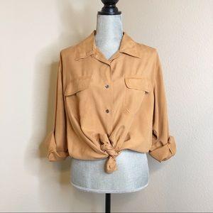 Halston silk shirt